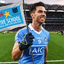 Active Flag launch with Dublin GAA footballer star