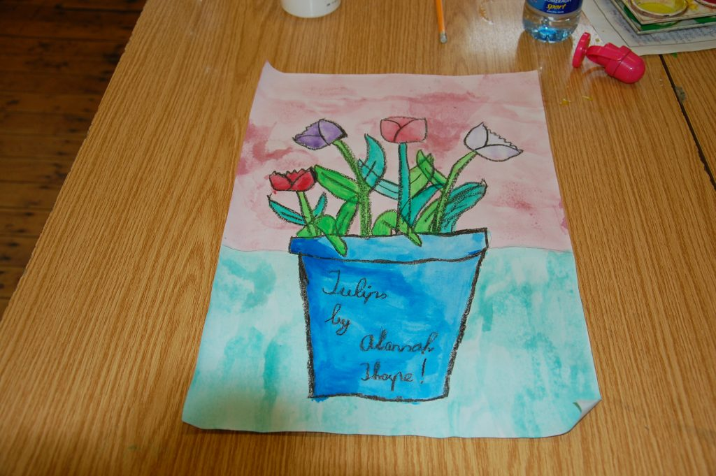 Tulips in Watercolours